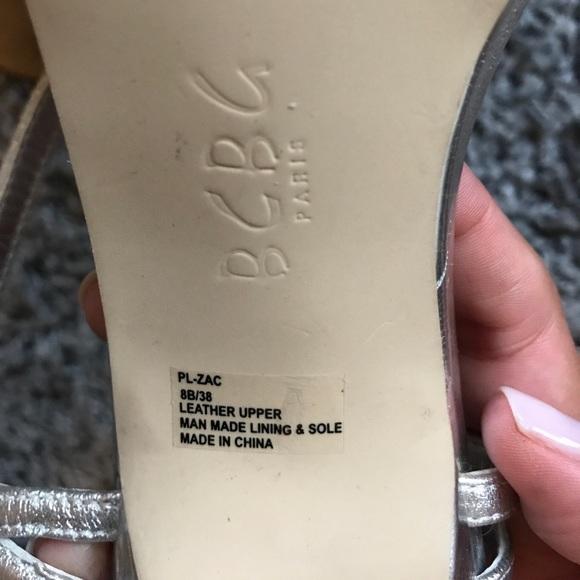 BCBG Shoes - BGBG Silver sling back heels