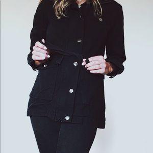 BP black canvas coat