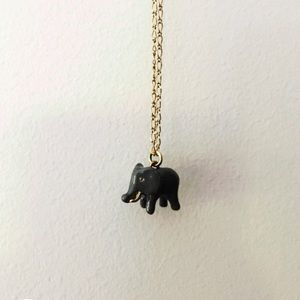 J. Crew Jewelry - Gold elephant pendant necklace