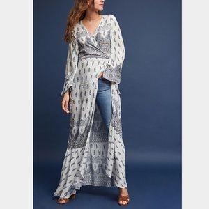 NWT {Anthro} Paisley wrap Kimono