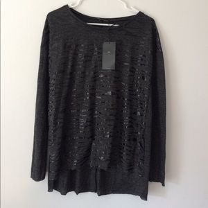 {ZARA} long sleeves top. Cutest detail. Size m
