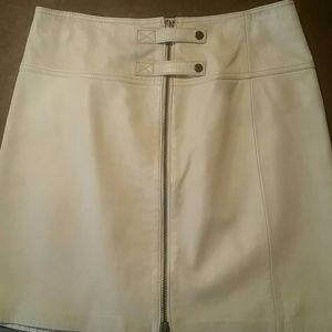CACHE LAMB LEATHER SKIRT NWT!