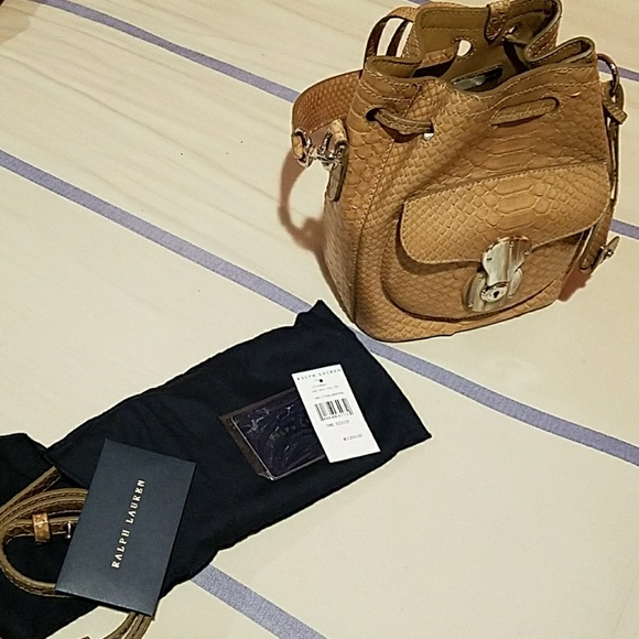 Ralph Lauren Bags   Genuine Python Drawstring Handbag   Poshmark 90ee971e29