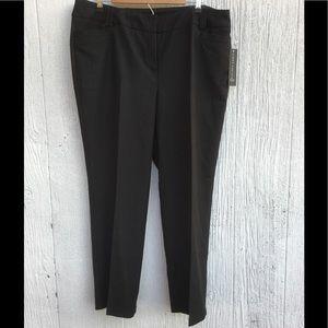 NWT Larry Levine Short Length Pants Black 16W