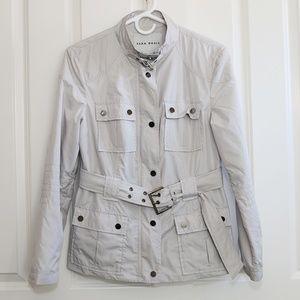 Zara Utility Jacket Light Gray Medium