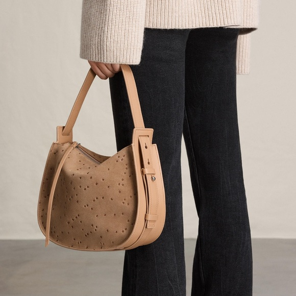 afc4bf3dcf24 ✨SALE✨ All Saints Echo star mini suede hobo bag