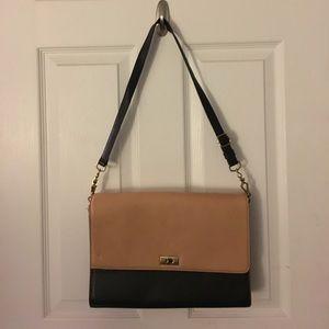 Two tone leather J.Crew purse
