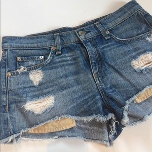 Rag & Bone Distressed Jean Shorts
