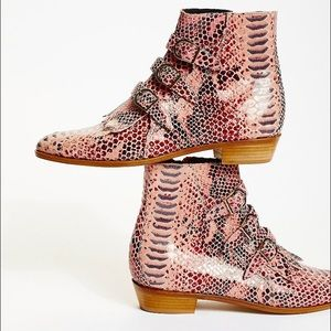 Jett Snake Boot by Modern Vice size 40, pink snake