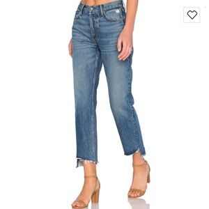 Grlfrnd Helena high low denim