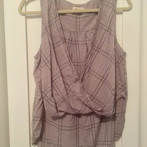 Silence + noise Open front sleeveless blouse
