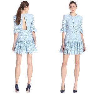 Cynthia Rowley White Eyelet Poplin Sleeve Dress