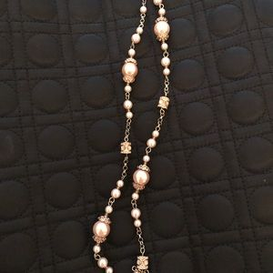 J. Crew Jewelry - J.Crew pink pearl necklace