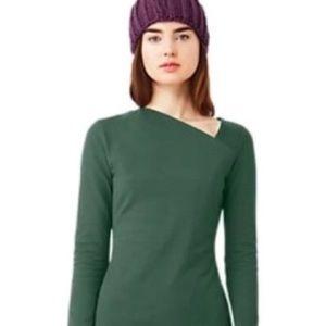 Kate spade Saturday slant neck top in pine/green