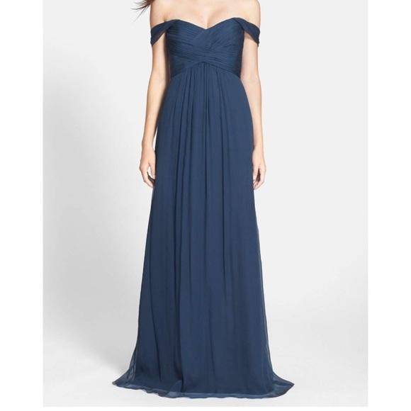 Amsale Dresses | Convertible Crinkled Silk Chiffon Gown | Poshmark