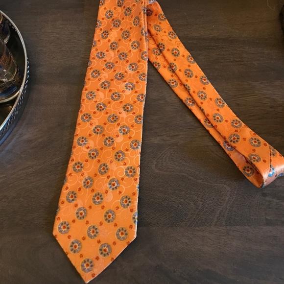 05beed15 ermenegildo zegna tie orange peach Floral pattern