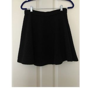 Black Quilted Swing Skirt