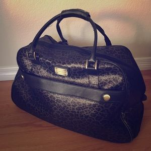 Metallic Leopard Luggage