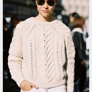 Joe Fresh Sweater size XS Cable Knit