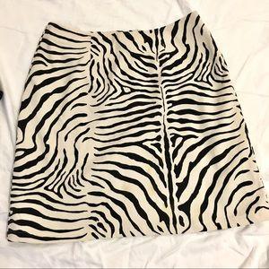 Cache Zebra Print Mini Skirt
