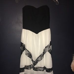 Black & white dress from Jcpenny