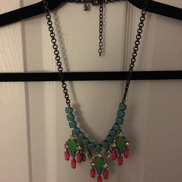 J. Crew Jewelry - Neon J.Crew statement necklace