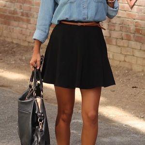 Hinge from Nordstrom Drop-Waist Skater Mini Skirt