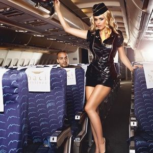 Sexy Stewardess Ensemble By Baci S/M NWT
