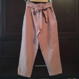 High wasted cropped trousers