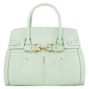 Chic New With Tags Light Green Tote Handbag