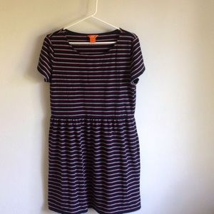 Joe Fresh Red White and Blue Striped Dress size L