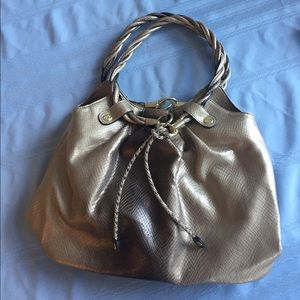 RELIC purse (metallic taupe/gold)