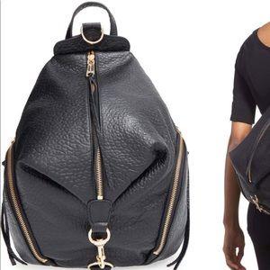 Rebecca minkcoff black leather backpack !