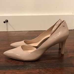 Calvin Klein Nude Pointed Toe Pumps
