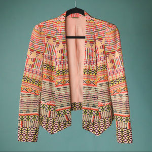 Rebecca Minkoff Small Becky Coral Printed Jacket