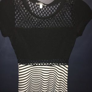 Charlotte Russe black & white dress