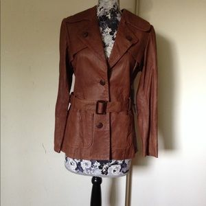 KAREN KANE Brown leather jacket
