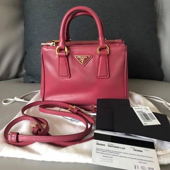 Prada Handbags - Prada Saffiano Pink
