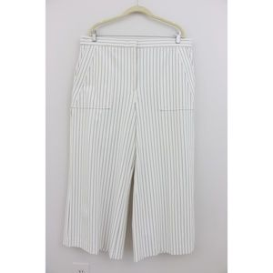 Wide-Leg Pinstripe Pants