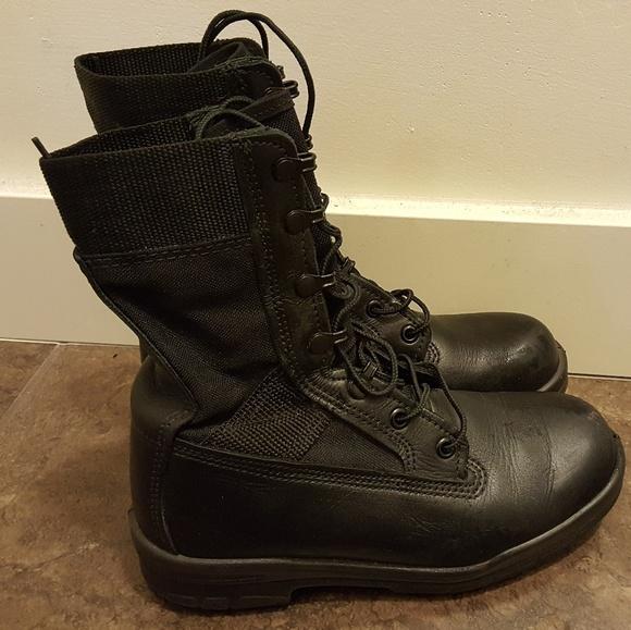 53f8a3e09c5 Black Bates Lites Military boots