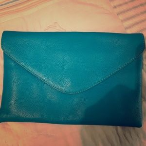 J. Crew Teal Clutch - only used once!