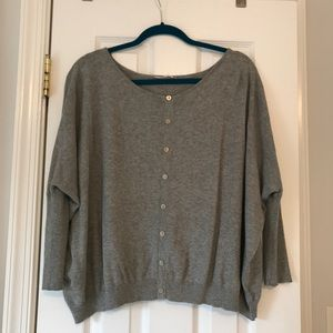 Sweaters - Gorgeous grey sweater with button detail on front