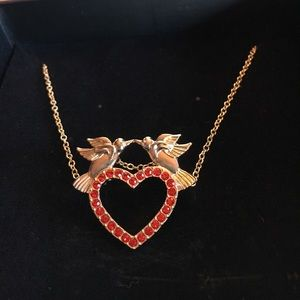New Jewelmint lovebirds pin necklace
