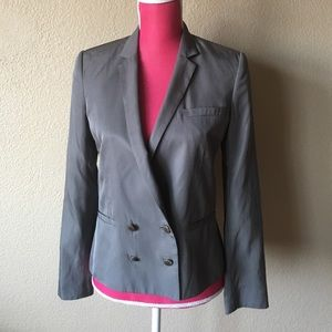 Rag and Bone Gray Silk Blend 4-button Blazer