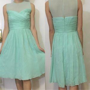 NEW J. Crew Clara silk chiffon dress in Tiffany