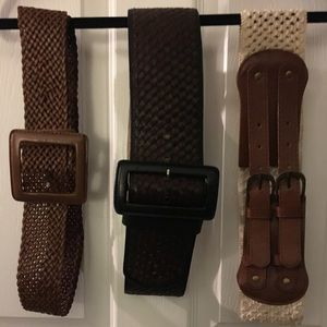 Three gorgeous belts! All 3 for the price of 1!