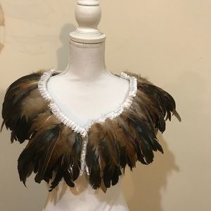 Jackets & Blazers - NWT feather cape