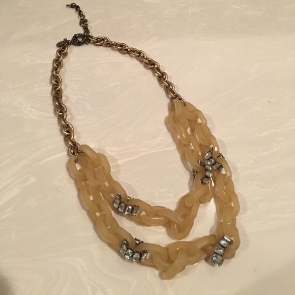 J. Crew Jewelry - J. Crew chain necklace with rhinestones