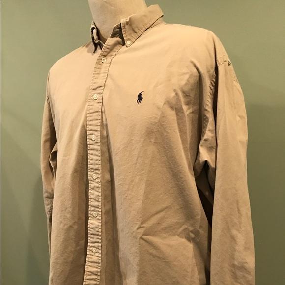 e9f3ca2c Polo by Ralph Lauren Shirts | Khaki Mens Ralph Lauren Polo Blake Xl ...