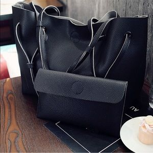 Handbags - 🎉4🆇🅷🅿  Black Pebble Purse & Matching Wallet